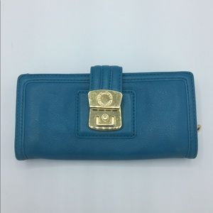 Marc by Marc Jacobs Blue Leather Carry All Wallet